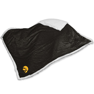 Iowa Hawkeyes Embroidered Sherpa Throw Blanket