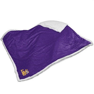 LSU Tigers Embroidered Sherpa Throw Blanket