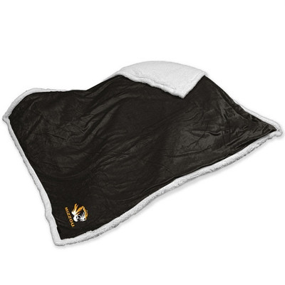 Missouri Tigers Embroidered Sherpa Throw Blanket