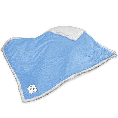 UNC Tar Heels Embroidered Sherpa Throw Blanket