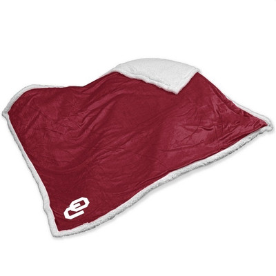 Oklahoma Sooners Embroidered Sherpa Throw Blanket