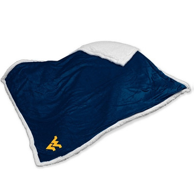 West Virginia Mountaineers Embroidered Sherpa Throw Blanket