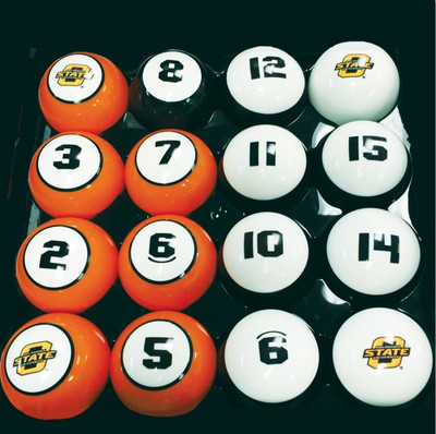 Oklahoma State Cowboys Billiard Pool Ball Set