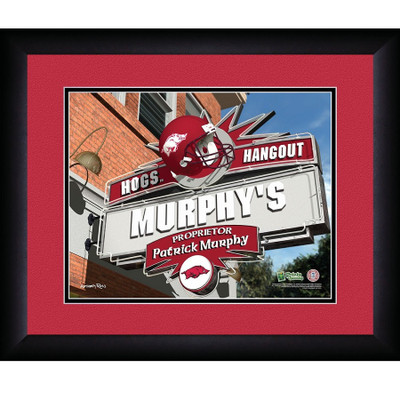 Arkansas Razorbacks Personalized Pub Print