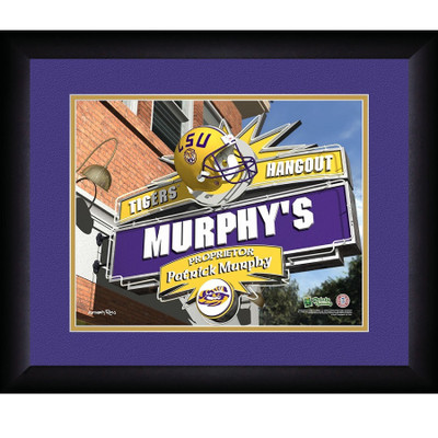 LSU Tigers Campus Personalized Pub Print