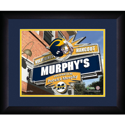 Michigan Wolverines Personalized Pub Print