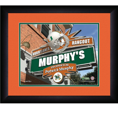 Miami Hurricanes Personalized Pub Print