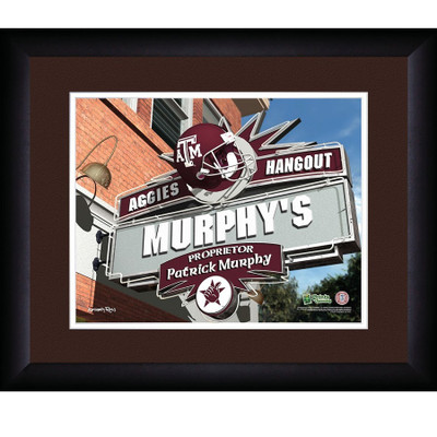 Texas A&M Aggies Personalized Pub Print
