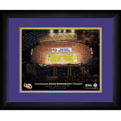 LSU Tigers Campus Personalized Stadium Print