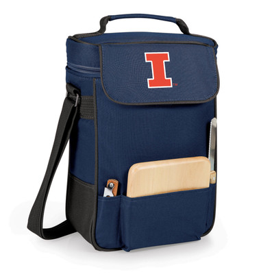Illinois Fighting Illini Duet Wine and Cheese Picnic Tote