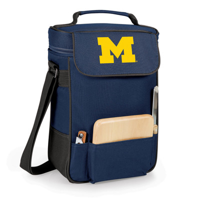 Michigan Wolverines Duet Wine and Cheese Picnic Tote