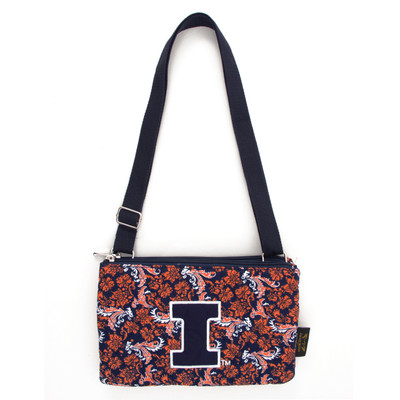 Illinois Fighting Illini Quilted Cotton Crossbody Purse