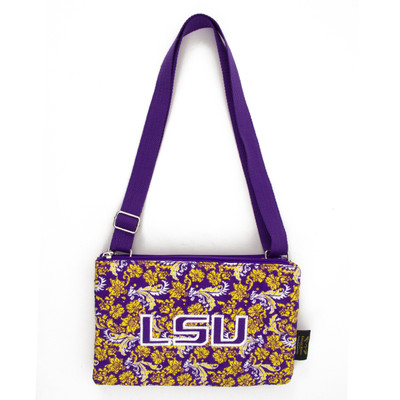 LSU Tigers Quilted Cotton Crossbody Purse | Eagles Wings | 10140