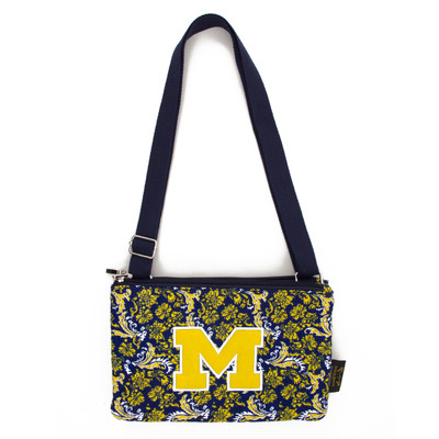 Michigan Wolverines Quilted Cotton Crossbody Purse