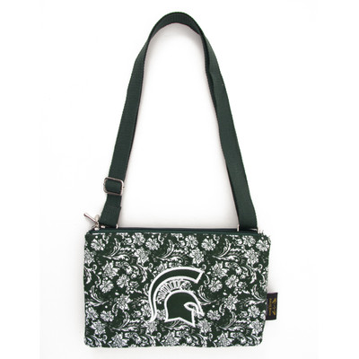 Michigan State Spartans Quilted Cotton Crossbody Purse