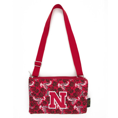 Nebraska Huskers Quilted Cotton Crossbody Purse