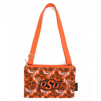 Oklahoma State Cowboys Quilted Cotton Crossbody Purse