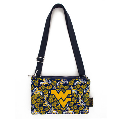 West Virginia Mountaineers Quilted Cotton Crossbody Purse