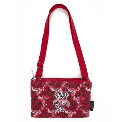 Wisconsin Badgers Quilted Cotton Crossbody Purse