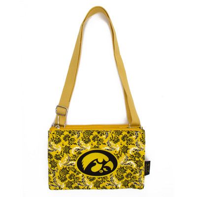 Iowa Hawkeyes Quilted Cotton Crossbody Purse | Eagles Wings | 10240