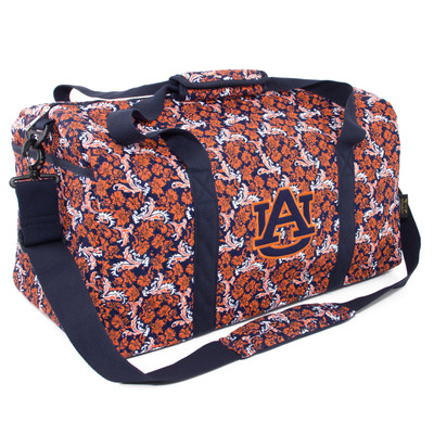 Auburn Tigers Quilted Cotton Large Duffel Bag
