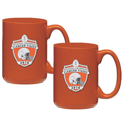 Clemson Tigers National Champions Coffee Mug Set of 2