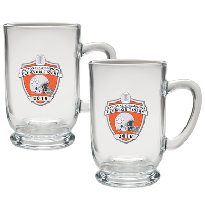 Clemson Tigers National Champions Footed Coffee Mug Set of 2