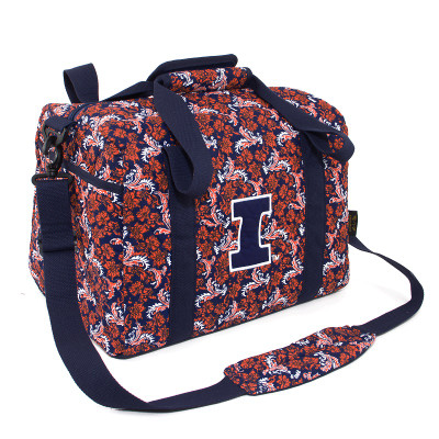 Illinois Fighting Illini  Quilted Cotton Mini Duffle Bag