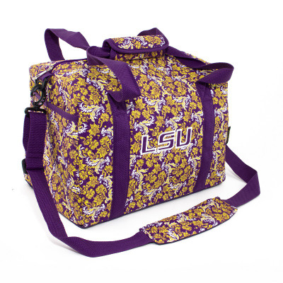 LSU Tigers Quilted Cotton Mini Duffle Bag