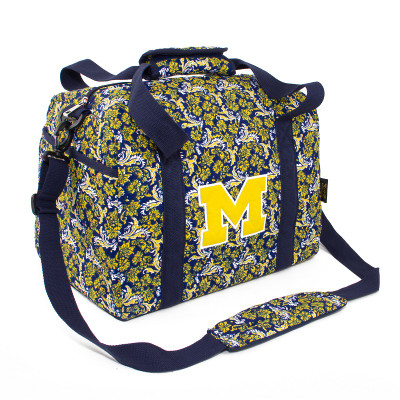Michigan Wolverines Quilted Cotton Mini Duffle Bag