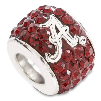 Alabama Crimson Tide Sterling Silver Bracelet Bead Charm