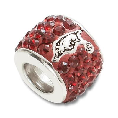 Arkansas Razorbacks Logo Sterling Silver Bracelet Bead Charm