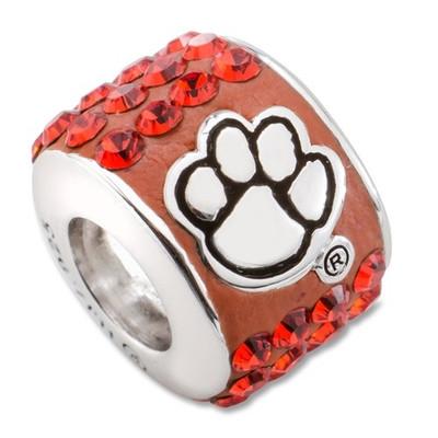 Clemson Tigers Logo Sterling Silver Bracelet Bead Charm