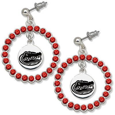 Florida Gators Spirit Crystal Logo Wreath Earrings