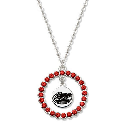 Florida Gators Spirit Crystal Logo Wreath Necklace