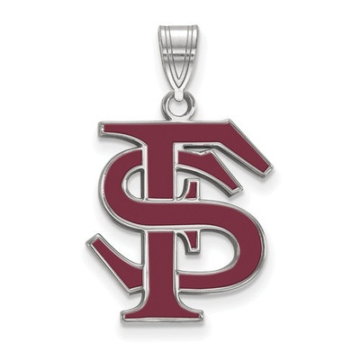 FSU Seminoles Sterling Silver Enamel FSU Pendant | Logo Art | SS032FSU