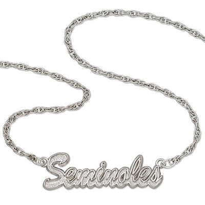FSU Seminoles Sterling Silver Script Necklace