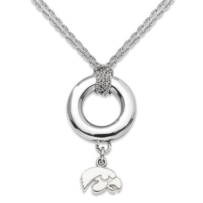 Iowa Hawkeyes Sterling Silver Sterling Silver Halo Necklace