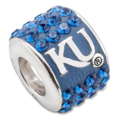 Kansas Jayhawks Sterling Silver Bracelet Bead Charm