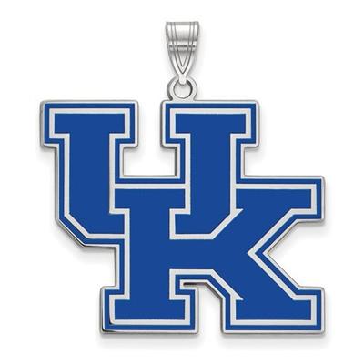 Kentucky Wildcats Blue Logo Sterling Silver Enamel Pendant