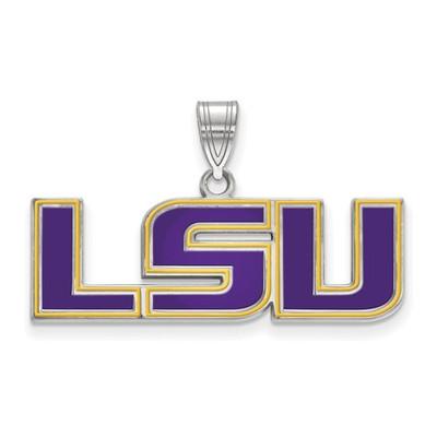 LSU Tigers Enamel Sterling Silver Pendant