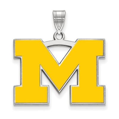 Michigan Wolverines M Enamel Pendant