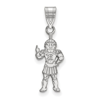 MSU Spartans Sparty Sterling Silver Pendant