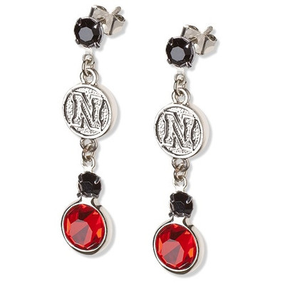 Nebraska Huskers Crystal Logo Earrings