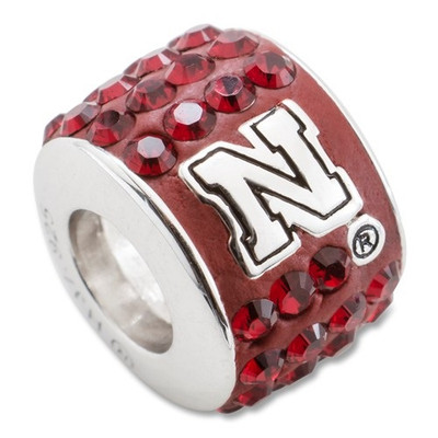 Nebraska Huskers Sterling Silver Bracelet Bead Charm
