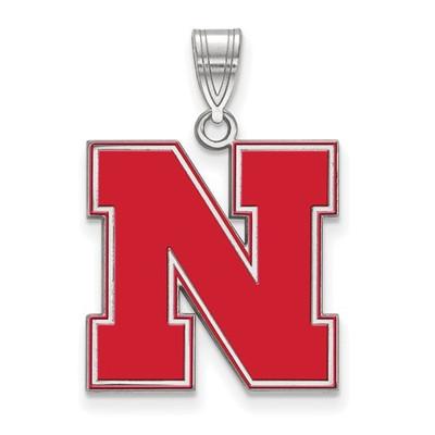 Nebraska Huskers Red N Enamel Pendant