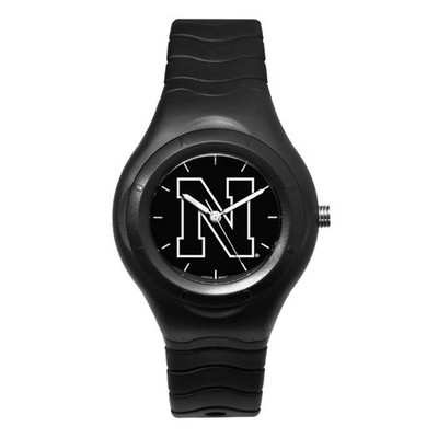 Nebraska Huskers Men's Shadow Black Sports Watch
