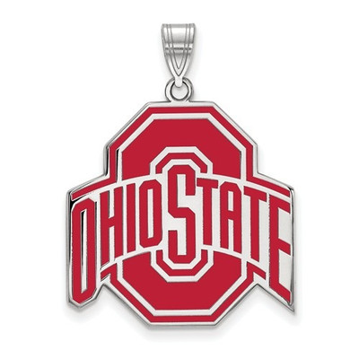 Ohio State Buckeyes Red Enamel Pendant