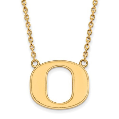 Oregon Ducks 14K Gold Pendant Necklace