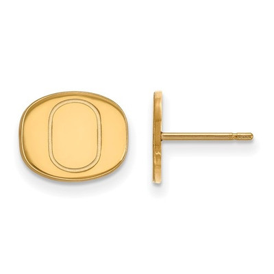 Oregon Ducks 14K Gold Post Earrings
